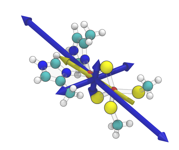 Rieske iron sulfur cluster with dipole vector and diagonalized quadrupole tensor